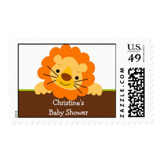 Lion Baby Shower Postage Stamp