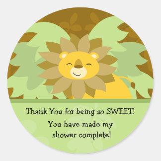 Lion Baby Shower Sticker