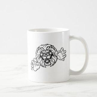 Lion Baseball Ball Sports Mascot Coffee Mug