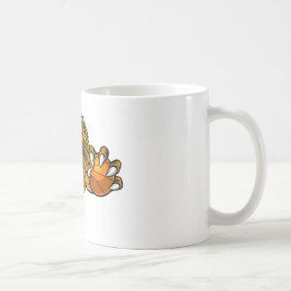Lion Basketball Ball Sports Mascot Coffee Mug