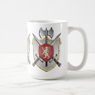 Lion Battle Crest Coffee Mug