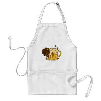 Lion Behind Beer Stein Adult Apron