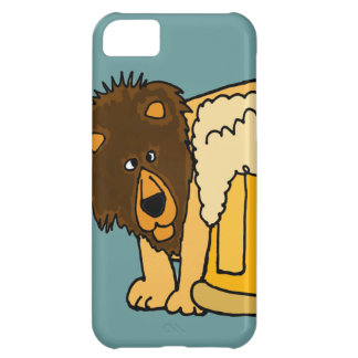 Lion Behind Beer Stein iPhone 5C Cases