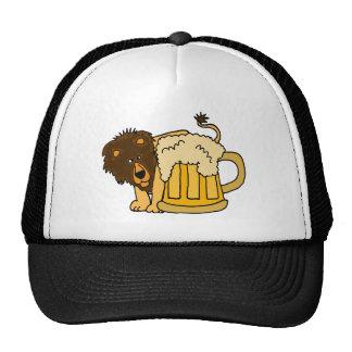 Lion Behind Beer Stein Trucker Hat