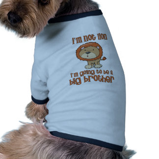 lion big brother doggie tshirt