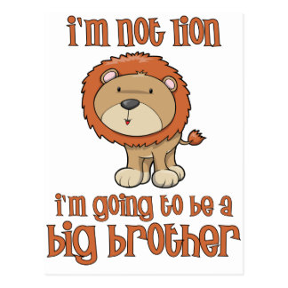lion big brother postcard