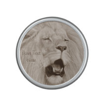 Lion big cat wildlife realist animal art bluetooth speaker