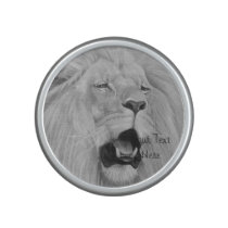 Lion big cat wildlife realist animal art speaker