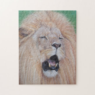 Lion big cat wildlife realist art jigsaw puzzle