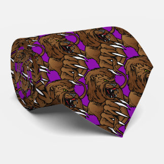 Lion Big Claws Sports Football Basketball Tie
