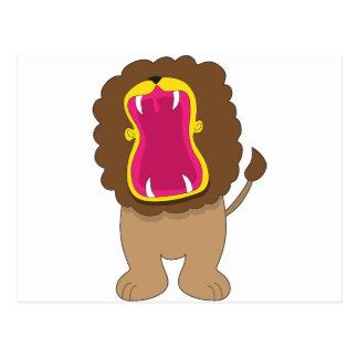 Lion Big Mouth Postcard