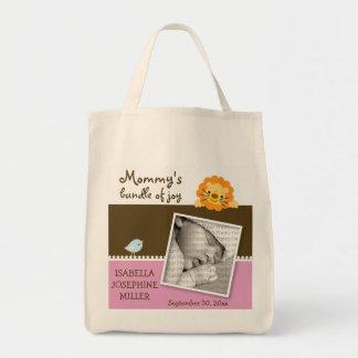 Lion & Birdie Custom Photo Diaper Bag :: pink