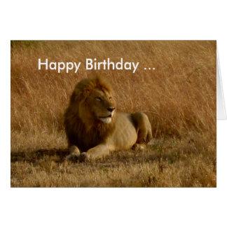 Lion Birthday card. Greeting Card
