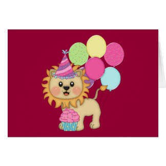 Lion Birthday Girl (personalized) Card