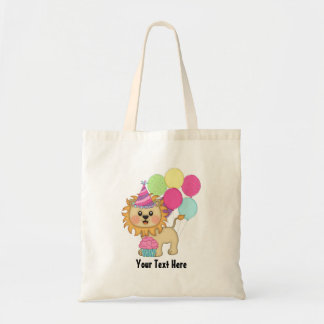 Lion Birthday Girl (personalized) Tote Bag