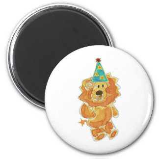 Lion Birthday Hat Magnet
