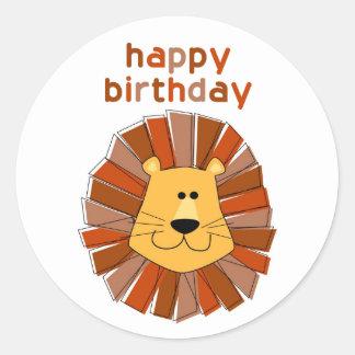 Lion Birthday Stickers