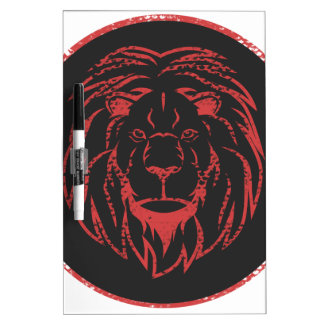 Lion Black&Red colors Dry Erase Board