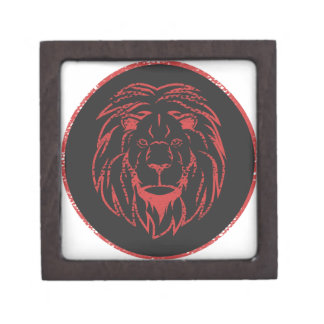 Lion Black&Red colors Jewelry Box