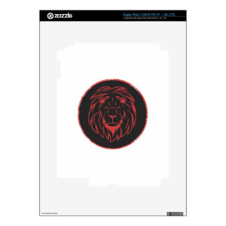 Lion Black&Red colors iPad 3 Skin