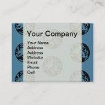 Lion Blue and Black logo badge celtic Business Card