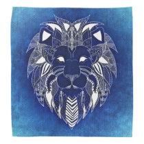 Lion blue bandana