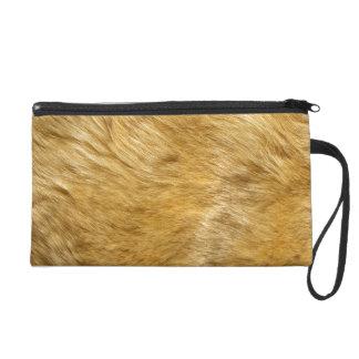 Lion Body Fur Skin Case Cover Wristlet Purses