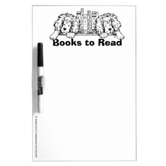 Lion Book End Books to Read Dry Erase Dry Erase Board