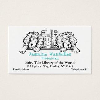Lion Book End Business Card