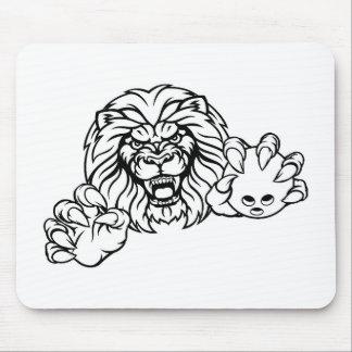 Lion Bowling Ball Sports Mascot Mouse Pad
