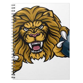 Lion Bowling Ball Sports Mascot Notebook