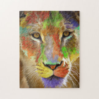 Lion (brushed) jigsaw puzzle