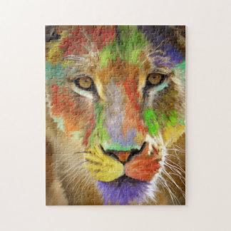 Lion (brushed) jigsaw puzzle