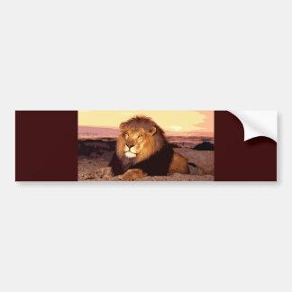 Lion Car Bumper Sticker