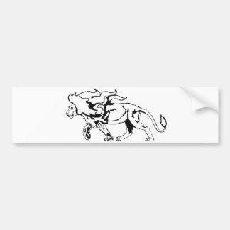 Lion Bumper Sticker