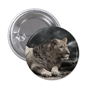 Lion 1 Inch Round Button