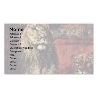 Lion By Meyerheim Paul Friedrich (Best Quality) Business Card