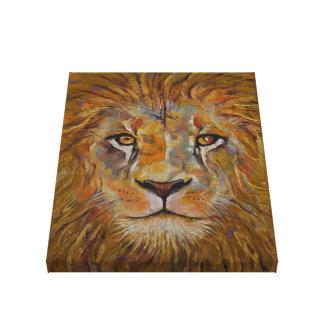 Lion Stretched Canvas Print