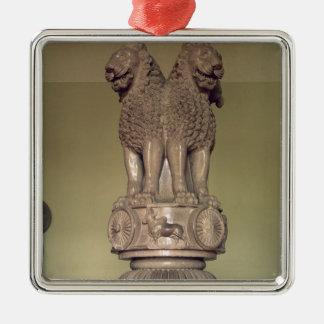 Lion capital from the Pillar of Emperor Ashoka Metal Ornament