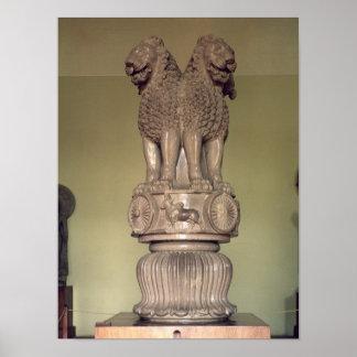 Lion capital from the Pillar of Emperor Ashoka Posters