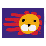 Hand shaped Lion card