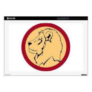 "Lion Caricature cartoon 17"" Laptop Skin"