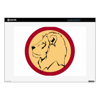 """Lion Caricature cartoon Decals For 15"""" Laptops"""
