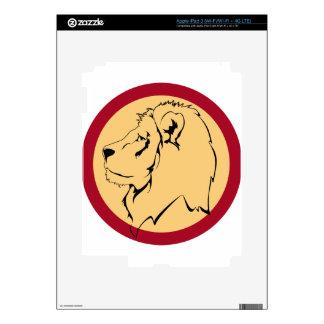Lion Caricature cartoon iPad 3 Decals