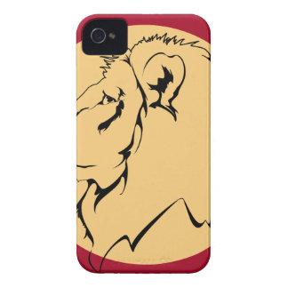 Lion Caricature cartoon iPhone 4 Case-Mate Case