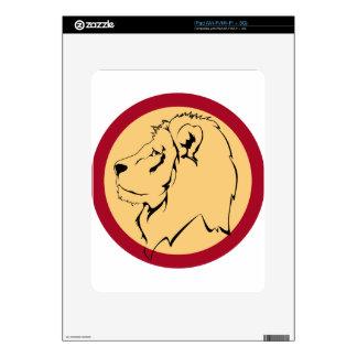 Lion Caricature cartoon Skin For iPad