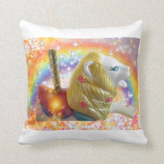 lion carousel throw pillow