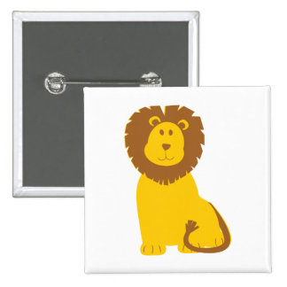 Lion cartoon button