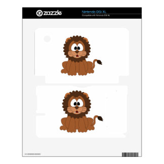 Lion cartoon decal for the DSi XL