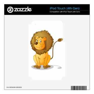 Lion cartoon skin for iPod touch 4G